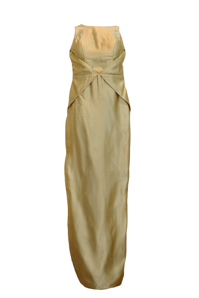 Buy: Gisela Privee Gold Backless Dress