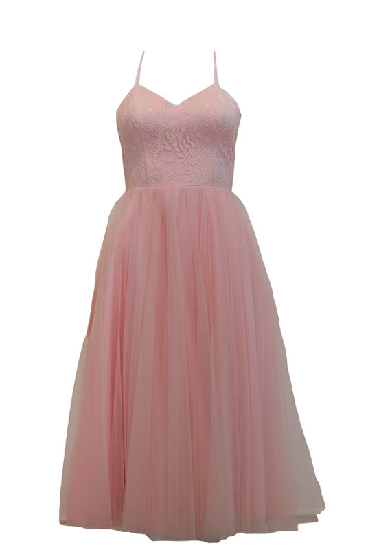 Buy: Gisela Privee Pink Backless Tulle Dress