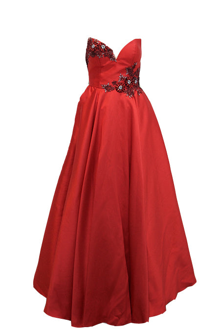 Rent: Gisela Privee Red Ball Gown