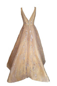 Sale: Hian Tjen Gold Sleeveless Ball Gown