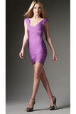 Herve Leger - Rent: Herve Leger Nicolette Lilac Bandage Dress-The Dresscodes - 2