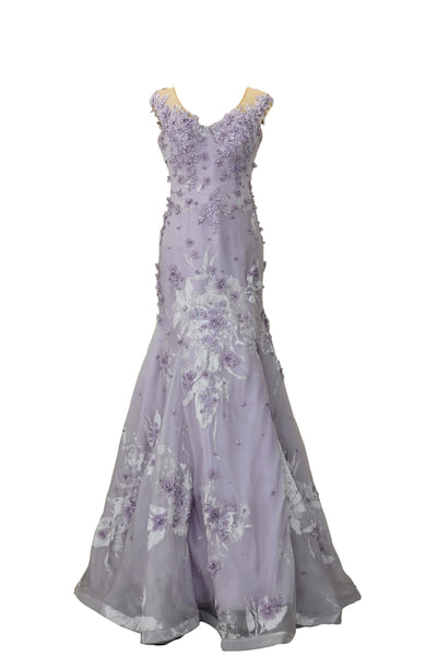 Rent: Hian Tjen Mermaid Lace Sleeveless Gown