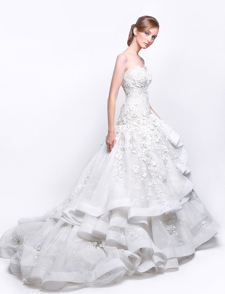 Hian Tjen - Buy: Hian Tjen Strapless Wedding Gown-The Dresscodes - 1