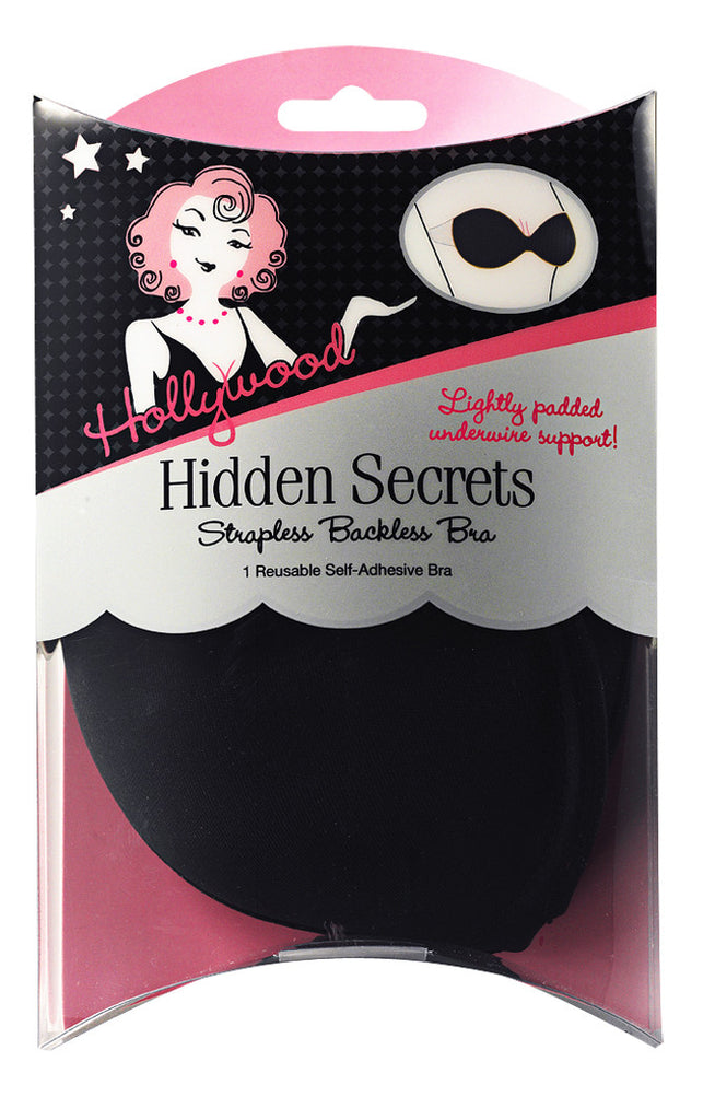 Hollywood Fashion Secrets - Hidden Secrets Bra in Black-The Dresscodes - 1