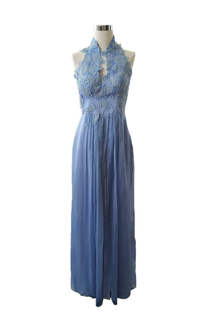 Rent: Private Label - Light Blue Cheongsam Neck Dress