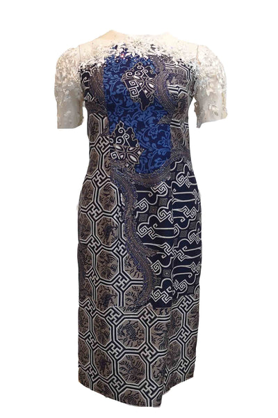 Rent : Gisella Privee - Short Sleeves Beaded Batik Dress