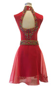 Rent : Yumi Katsura - Red Cheongsam Backless Gown with Skirt