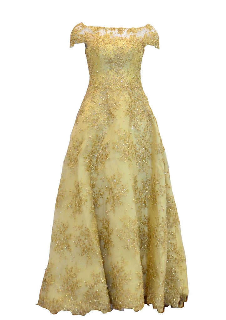 Rent: Imelda Hudiyono Gold Full Beaded A-Line Gown