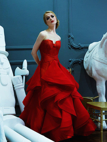 Imelda Hudiyono - Buy: Sweetheart Red Ball Gown-The Dresscodes