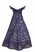 Rent: Imelda Kartini Navy Blue Sweetheart Off Shoulder Ball Gown
