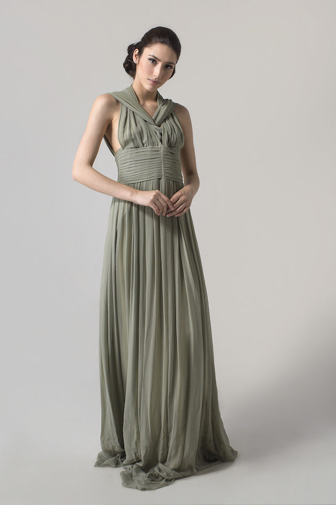 Jeffry Tan - Buy: JEFFRY TAN Green Atomic Dress-The Dresscodes - 1
