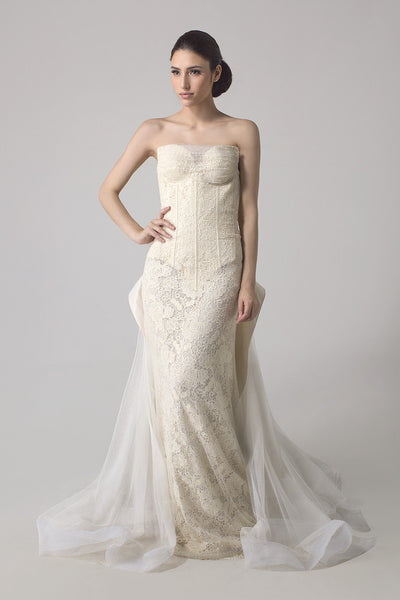 Jeffry Tan - Buy: Ivory Corset Wedding Gown-The Dresscodes - 1