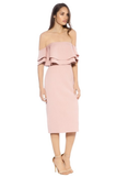 Rent: KEEPSAKE The Label Two Folds Dusty Pink Dress