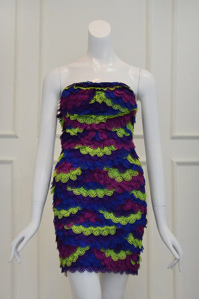 Buy: LEEDY Multicolor Layered Cocktail Dress