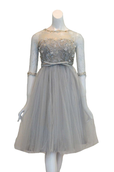 Rent: Lily Sasongko Long Sleeves Tulle Dress Waist Ribbon