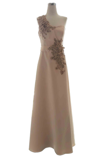 Rent: La Lumierre - Sleeveless Satin Dress with Embellishments