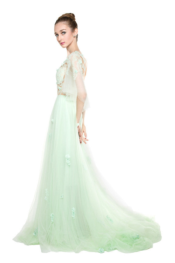 Lareme Atelier - Rent: Lareme Ateriler Mint Green Tulle Gown-The Dresscodes - 1