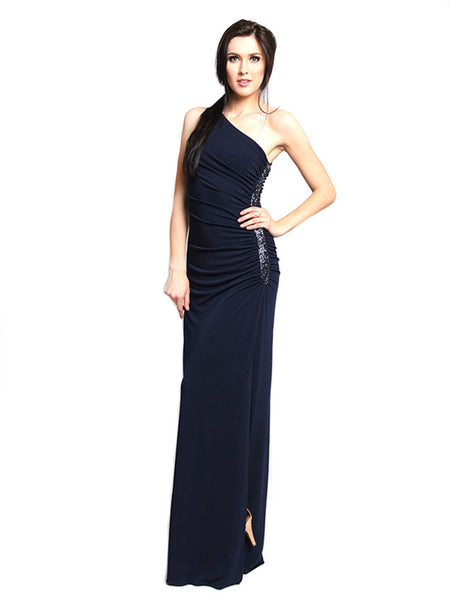 Laundry by Shelli Segal - Rent: Laundry By Shelli Segal One Shoulder Navy Maxi-The Dresscodes - 1