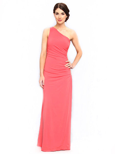 Laundry by Shelli Segal - Rent: Laundry By Shelli Segal One Shoulder Coral Maxi-The Dresscodes - 1