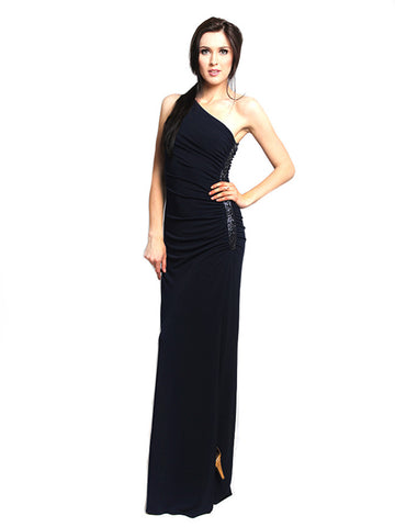 Rent: Laundry By Shelli Segal One Shoulder Black Maxi