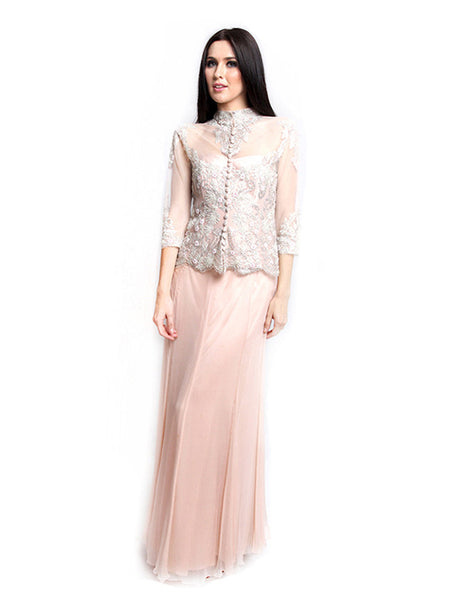 Lucy Harli - Buy: Pink Kebaya Set Gown-The Dresscodes - 1