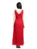 Lucy Harli - Buy: Red V-neck Gown-The Dresscodes - 2