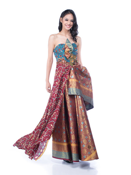 Luire - Rent: Luire Batik Luire Gown-The Dresscodes - 1