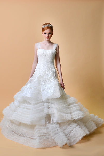 Rent: Didi Budiardjo Layered Ruffles Wedding Gown