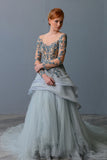 Rent: Windy Chandra Convertible Baby Blue Gown