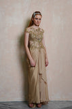 Rent: Susana Bridal Golden Draped Gown