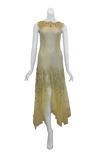 Rent: IKAT Indonesia by Didiet Maulana - Gold Great Gatsby Look Dress