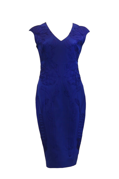 Rent: Karen Millen   V-Neck Embroidery Sleeveless Dress