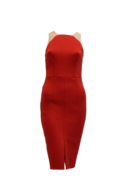 Rent: Ciel - Red Sleeveless Pencil Dress