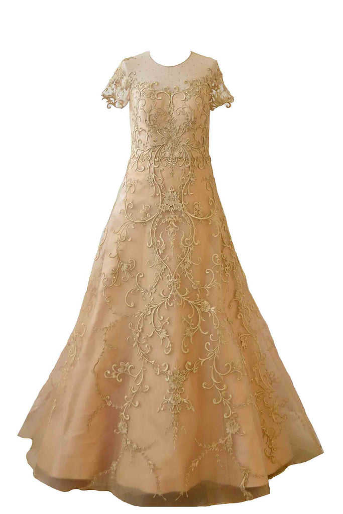 Rent: Didi Budiardjo Gold Embroidery A-Line Gown