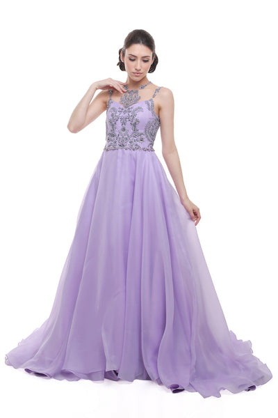 Monica Ivena - Rent: Monica Ivena Lavender Beaded Gown-The Dresscodes - 1