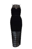 Rent: Manning Cartell Halter Mesh Black Dress