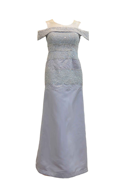 Rent: Maria Ruth Fernanda - Silver Beaded Gown