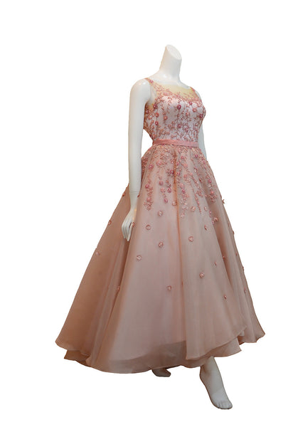 Buy: Blush Floral A-Line Gown