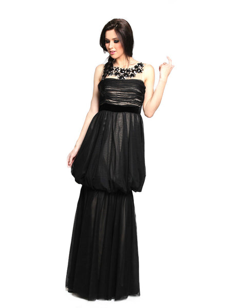 Moiselle - Rent: Moiselle Gathered Tulle Gown-The Dresscodes - 1