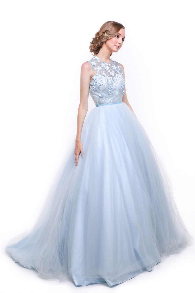 Monica Ivena - Buy: Iceberg Blue Ball Gown-The Dresscodes - 1