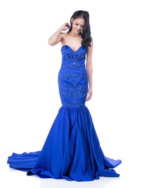 Monica Ivena - Buy: Blue Mermaid Gown-The Dresscodes - 1