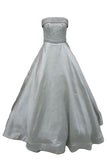 Rent: Monica Ivena - Mint Green Strapless Beaded Gown