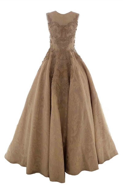 Rent: Monica Ivena - Strapless Golden Ball Gown
