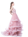 Monica Ivena - Rent: Pink Ball Gown-The Dresscodes - 3
