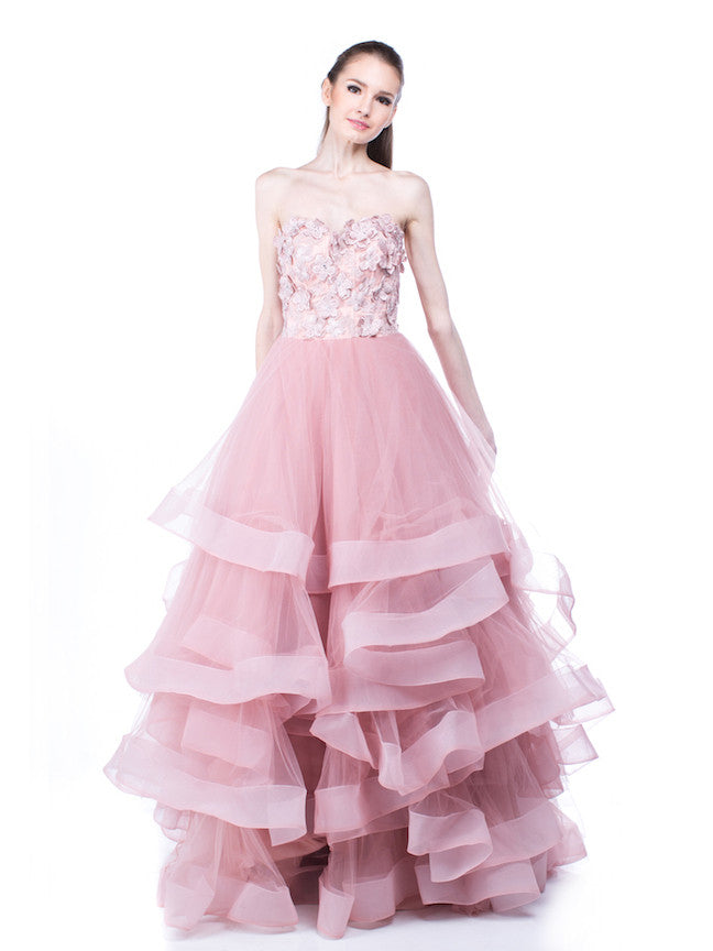 Monica Ivena Pink Ball Gown | TheDresscodes.com