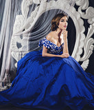 Monica Ivena - Buy: Blue Off-Shoulder Ball Gown-The Dresscodes - 3