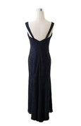 Rent: Monique Lhuillier Navy Lace Dress