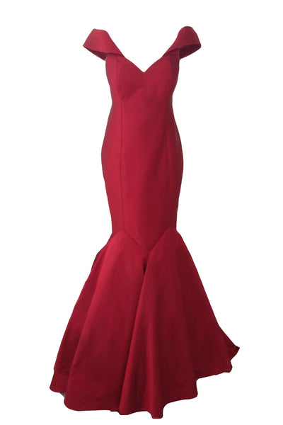 Rent: My Muse by Yofi - Red Off Shoulder Mermaid Gown