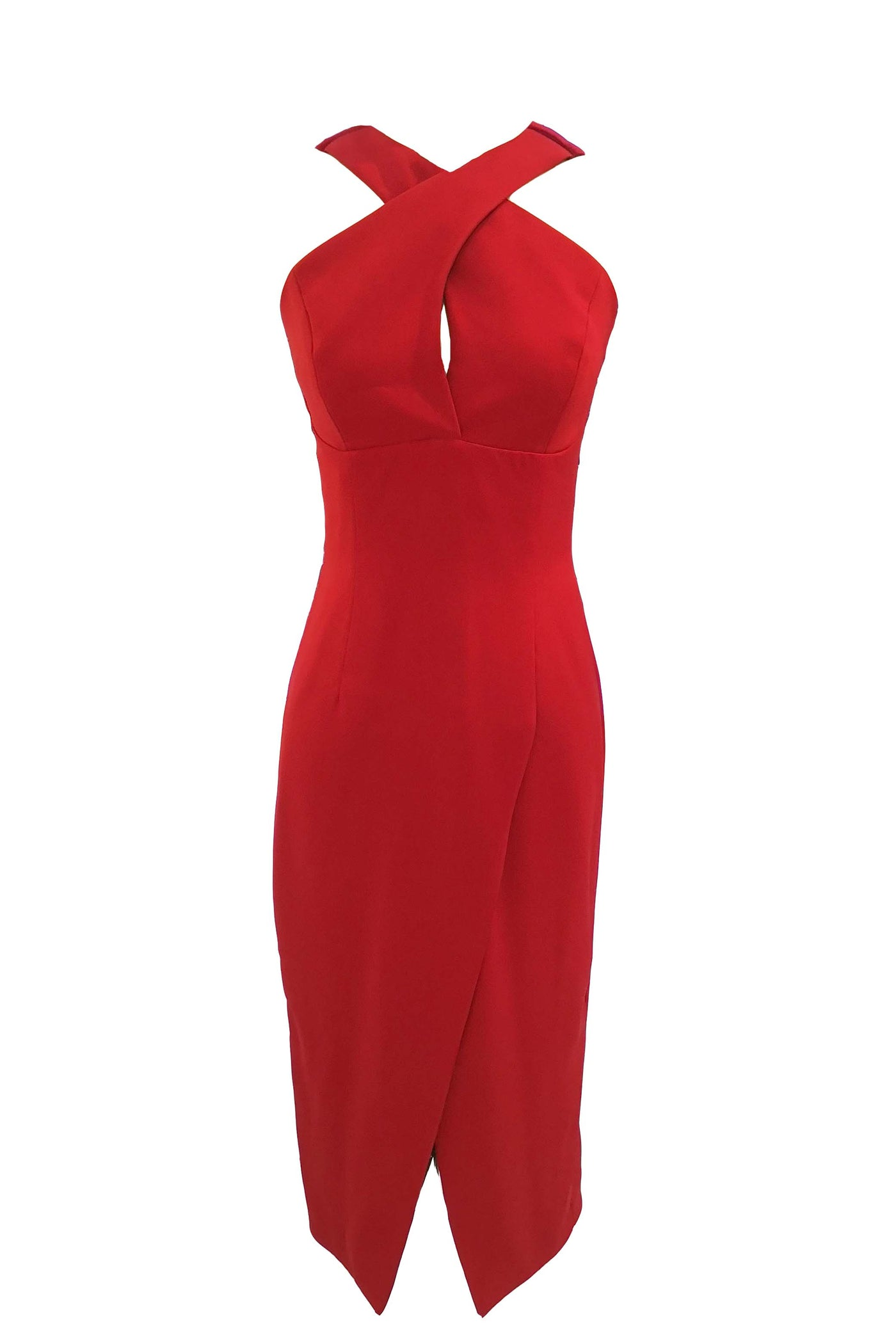 Rent: Nicola Finetti Red Halter Dress