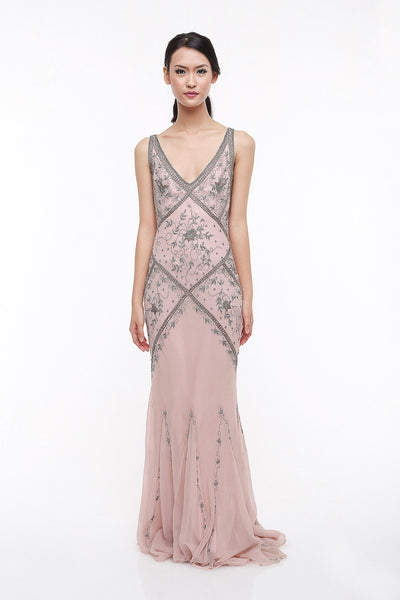 Niteline - Rent: Niteline Pink Beaded Dress-The Dresscodes - 1